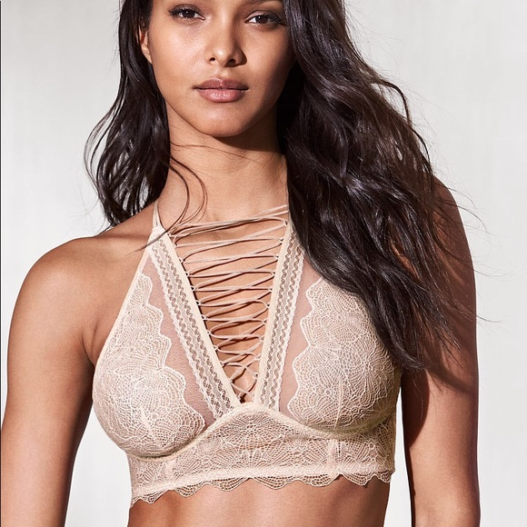 c82ab30071bfd Victoria s Secret VERY SEXY Lace-up High-neck Bra